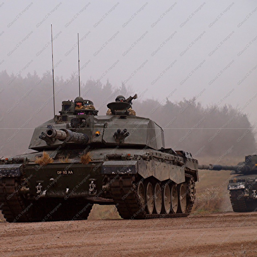 1303979d32be The King s Royal Hussars with their Challenger 2 Tanks out on Salisbury  Plain